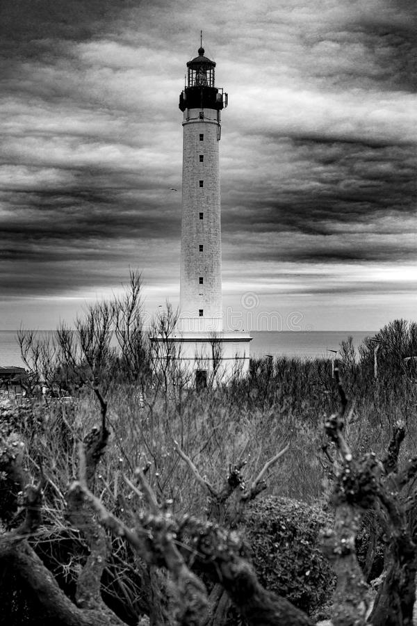 Leuchtturm - Biarritz - Frankreich stockbild