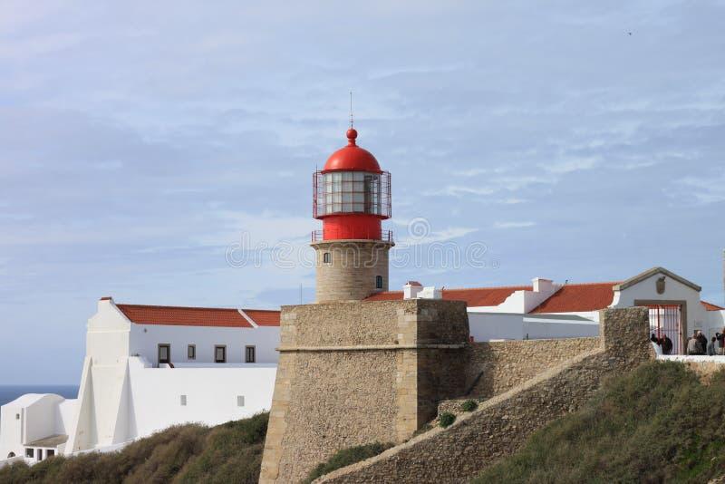 Leuchtturm Cabo San Vicente lizenzfreie stockbilder