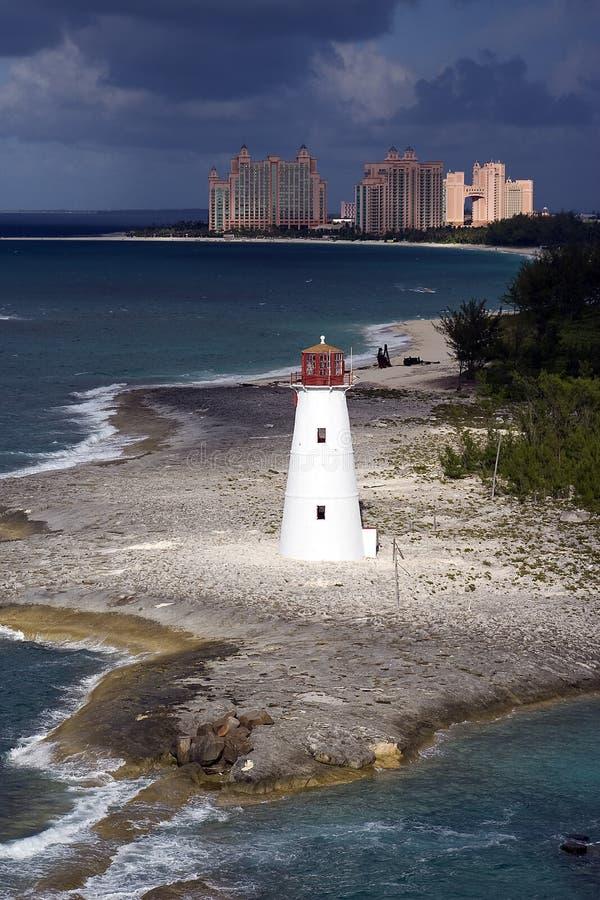 Leuchtturm in den Bahamas stockbild