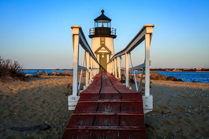 Leuchtturm, der den Hafen schützt stockfoto