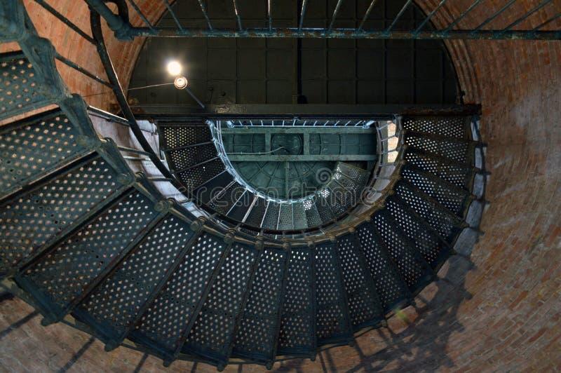 Leuchtturm, der oben schaut lizenzfreie stockfotos