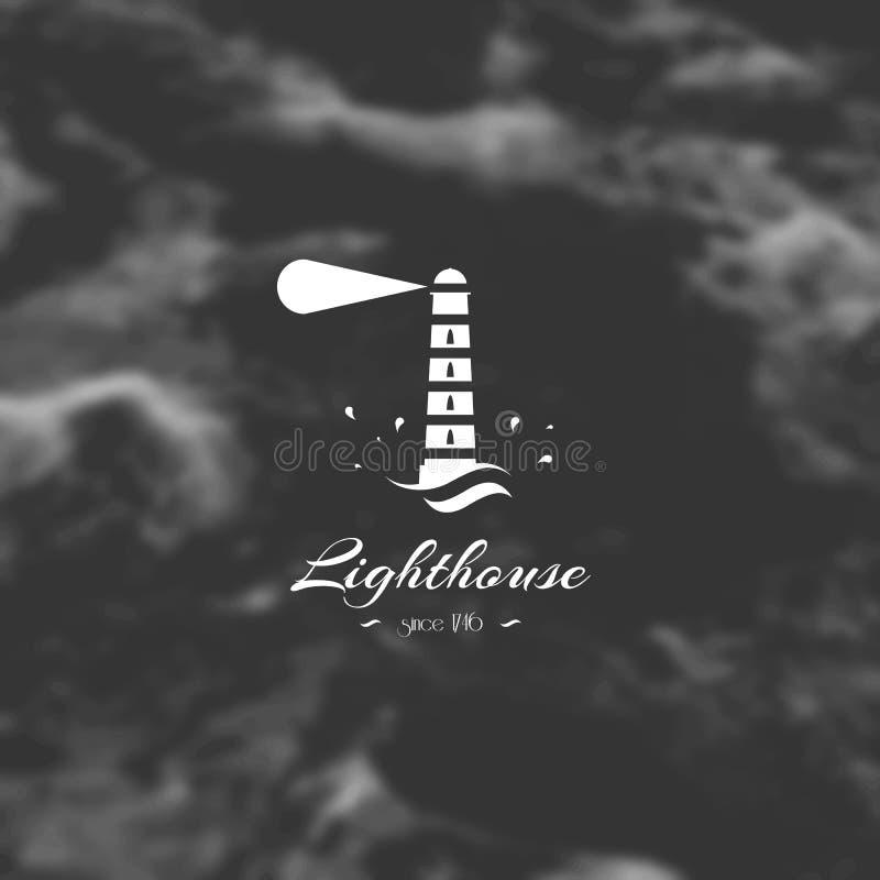 Leuchtturm, Element für Design, Schattenbildzeichen lizenzfreie abbildung