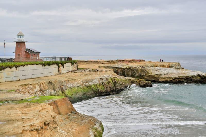 Leuchtturm-Feld-Zustands-Strand, Santa Cruz, Kalifornien stockbild