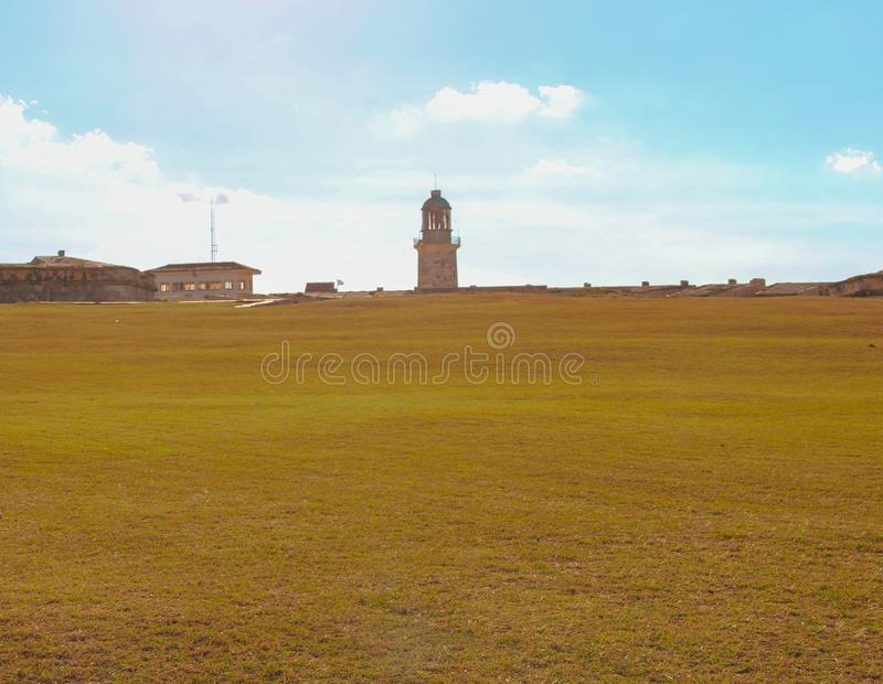 Leuchtturm am Fort in Havana stockfoto