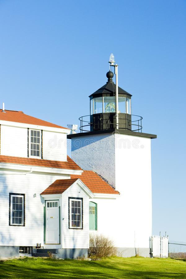 Leuchtturm-Fort-Punkt-Leuchte, Stockton Fr?hlinge, Maine, USA lizenzfreies stockfoto