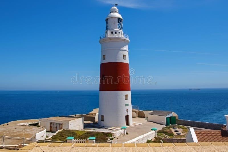 Leuchtturm in Gibraltar-Insel stockbild