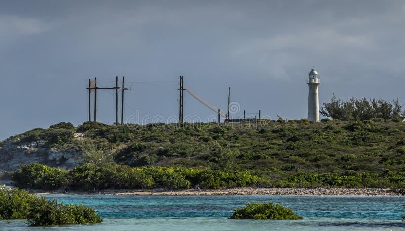Leuchtturm großartiger Turk Island lizenzfreie stockfotografie