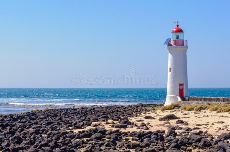Leuchtturm - Hafen-Fee lizenzfreie stockbilder