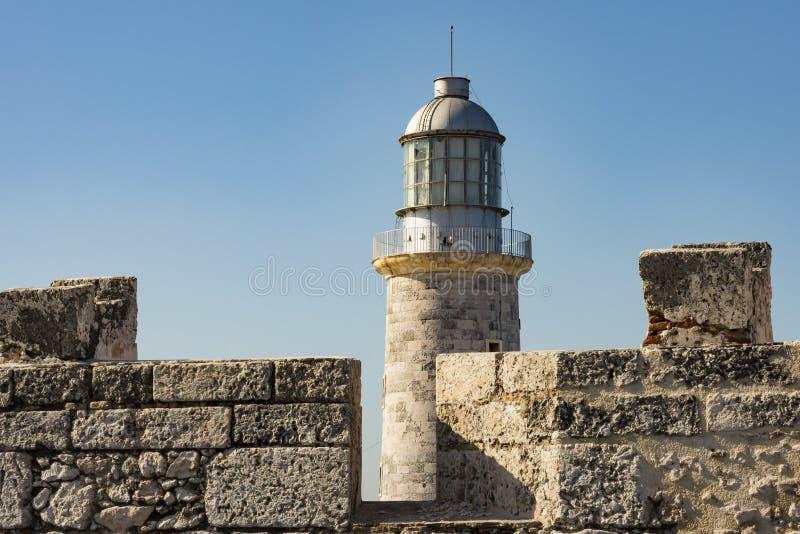 Leuchtturm Havana EL Morro stockfotografie