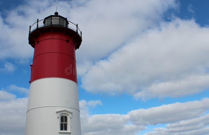 Leuchtturm in horizontalem stockbild