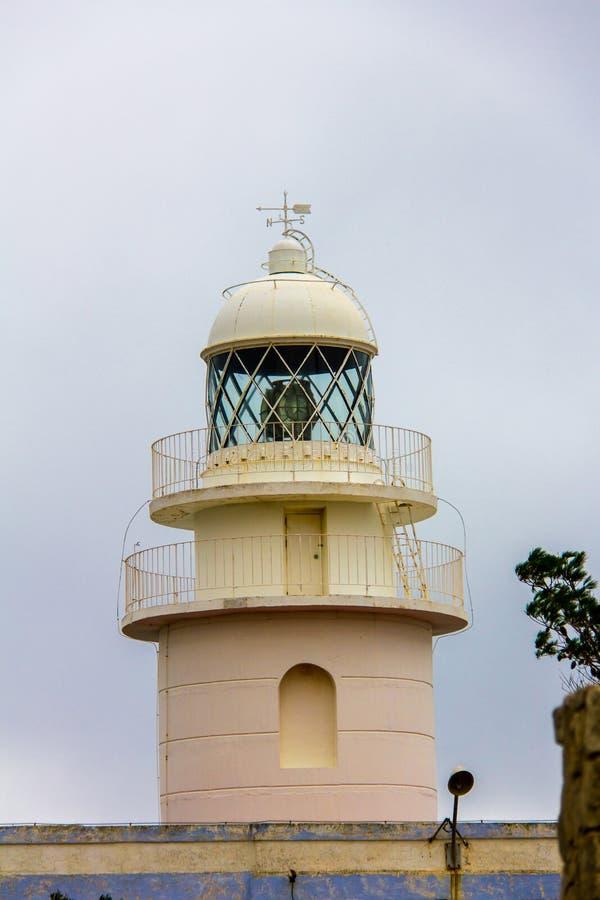 Leuchtturm im Kap von San Antonio, in Javea, Spanien lizenzfreie stockbilder