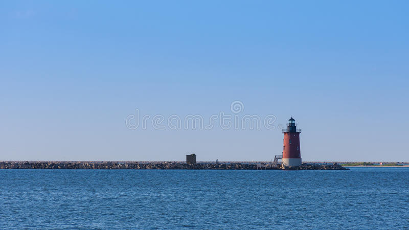 Leuchtturm am Küsten-Nationalpark stockfoto