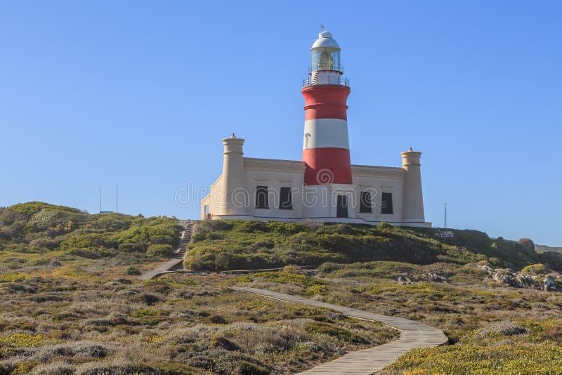Leuchtturm Kap Agulhas stockfotos