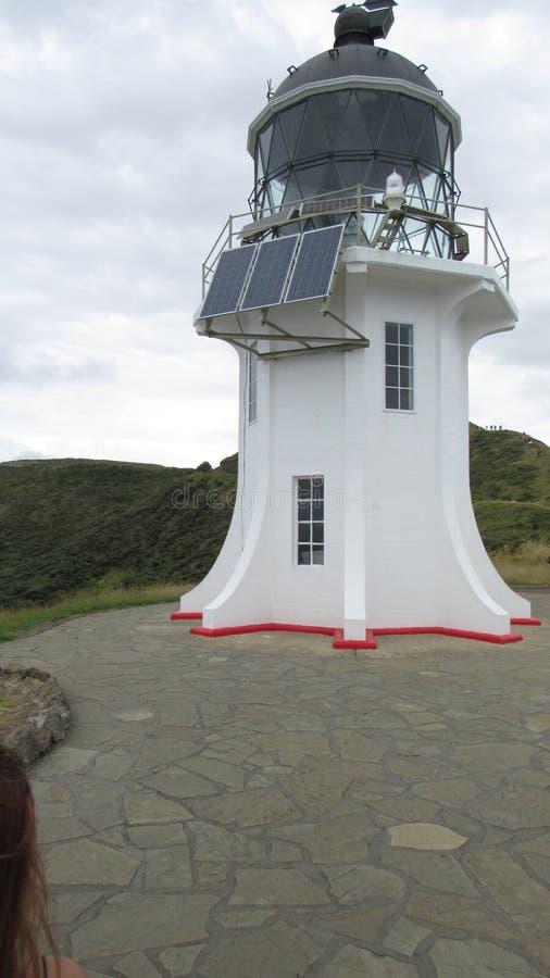Leuchtturm am Kap Rienga stockbild