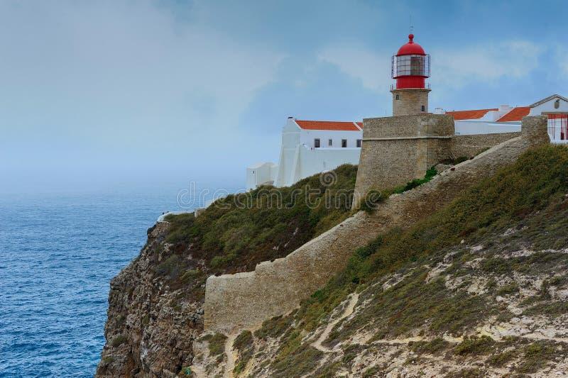 Leuchtturm, Kappe San Vicente, Sagres, Portugal lizenzfreies stockfoto