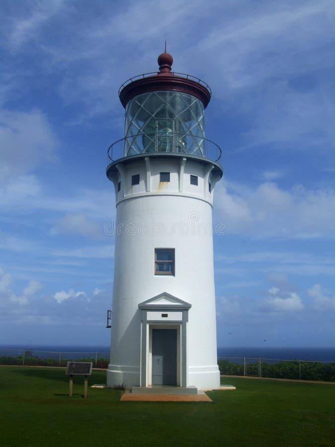 Leuchtturm am Kilauea-Punkt-Naturreservat, Kauai, Hawaii stockfotografie