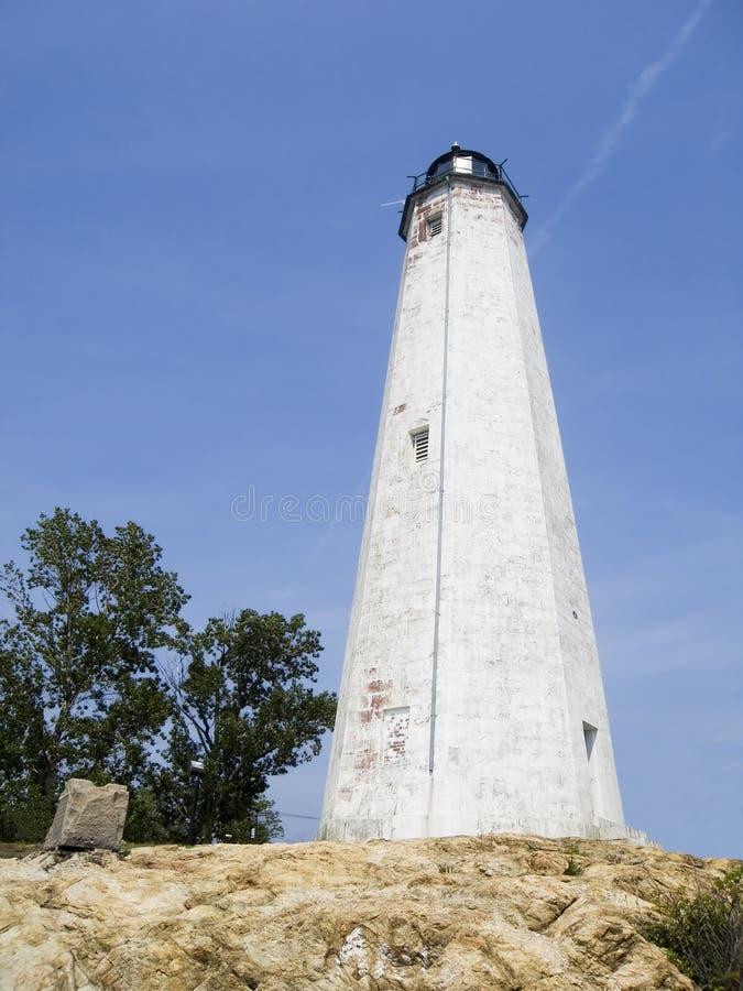 Leuchtturm am Leuchtturm-Punkt lizenzfreie stockfotos