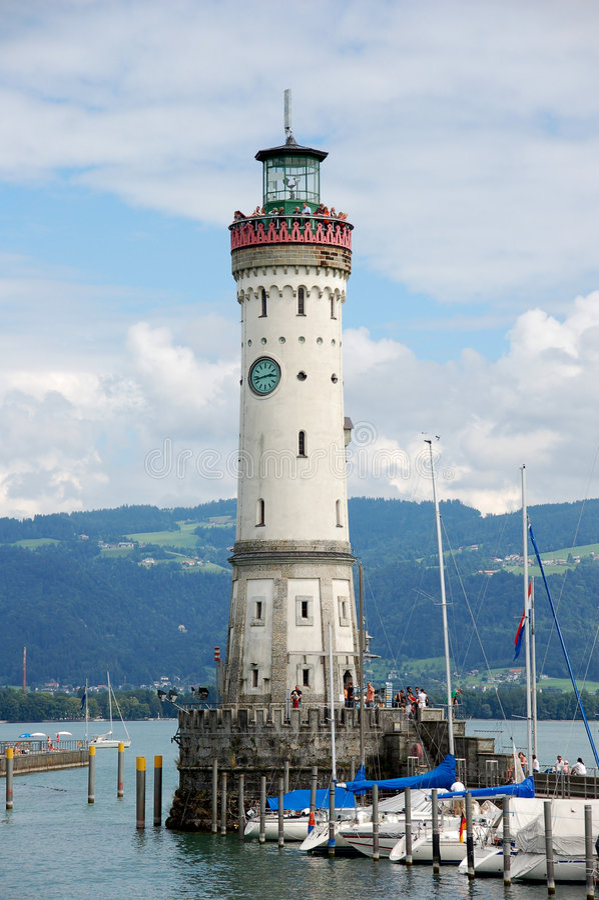 Leuchtturm Lindau stockbilder