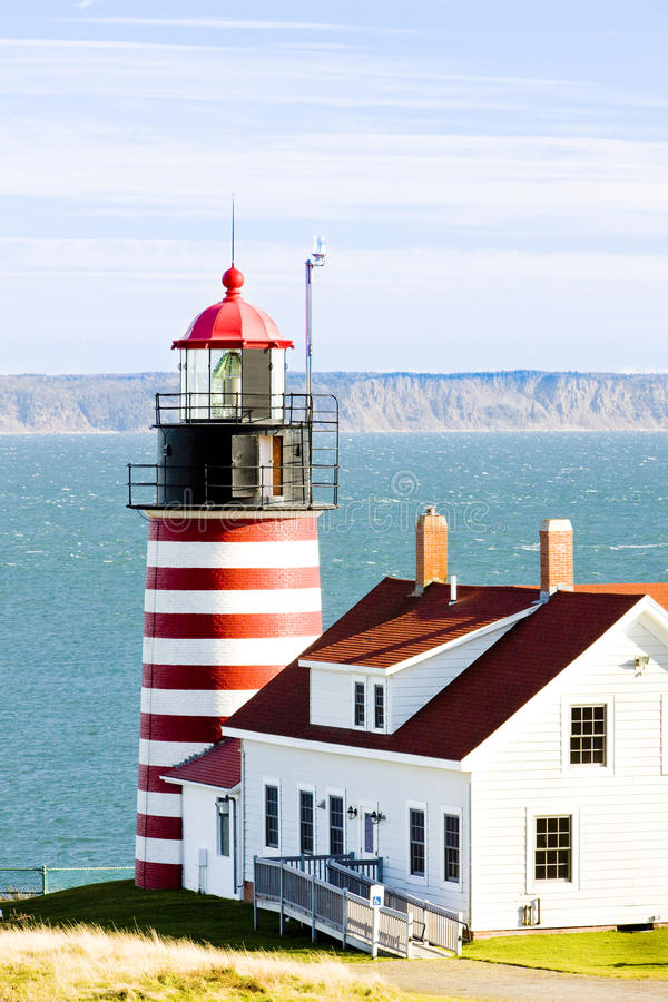Leuchtturm in Maine lizenzfreies stockbild