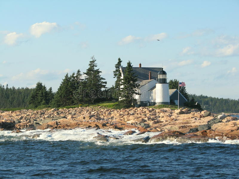 Leuchtturm in Maine USA stockbilder