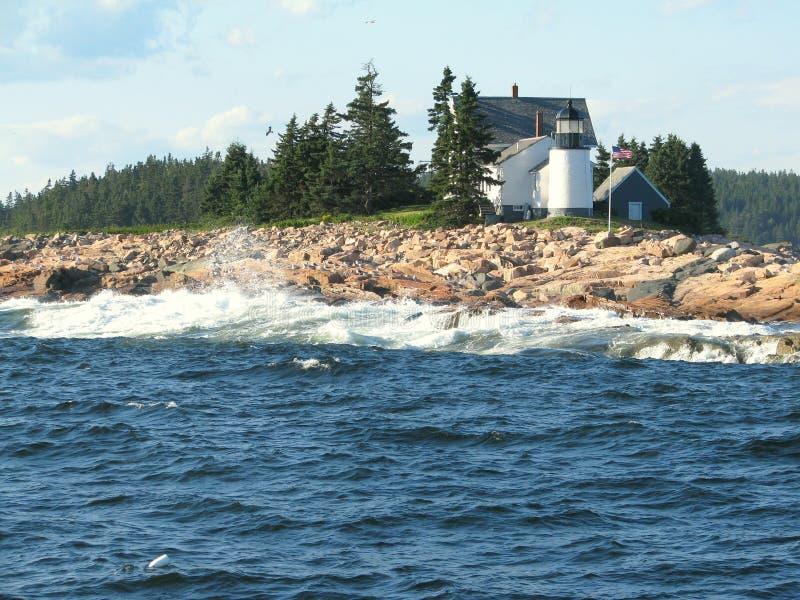 Leuchtturm in Maine USA lizenzfreies stockbild