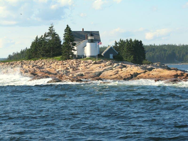 Leuchtturm in Maine USA stockfotografie