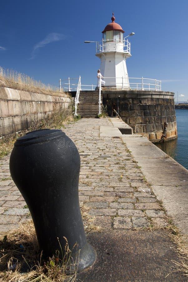 Leuchtturm Malmö-Hafen stockbilder
