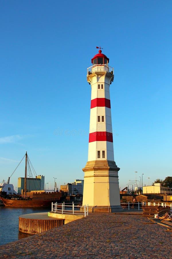 Leuchtturm in Malmö lizenzfreies stockbild