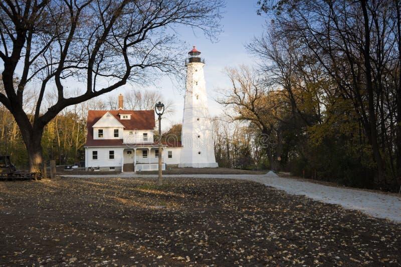 Leuchtturm in Milwaukee lizenzfreie stockfotos