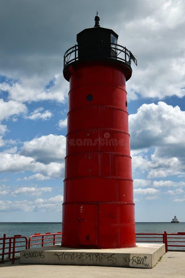 Leuchtturm Milwaukee-Pierhead stockfotos