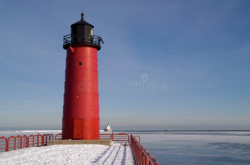 Leuchtturm Milwaukee-Pierhead lizenzfreie stockfotos