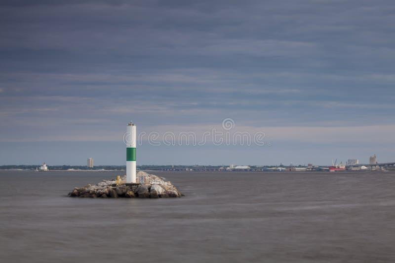 Leuchtturm in Milwaukee, Wisconsin stockfoto