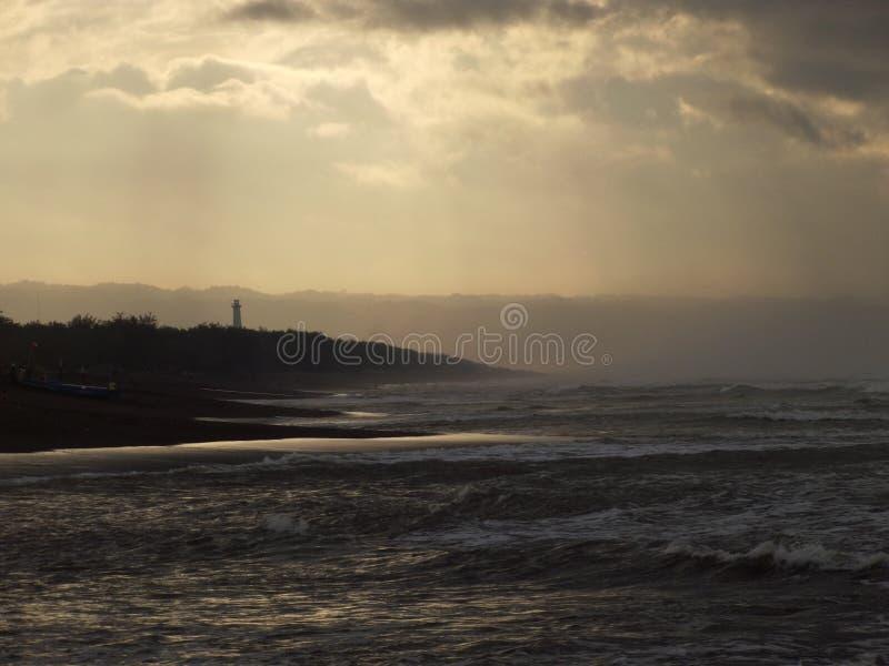 Leuchtturm morgens stockbilder