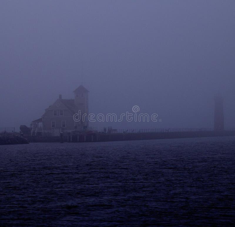 Leuchtturm am Muskegon-Nationalpark lizenzfreie stockfotos