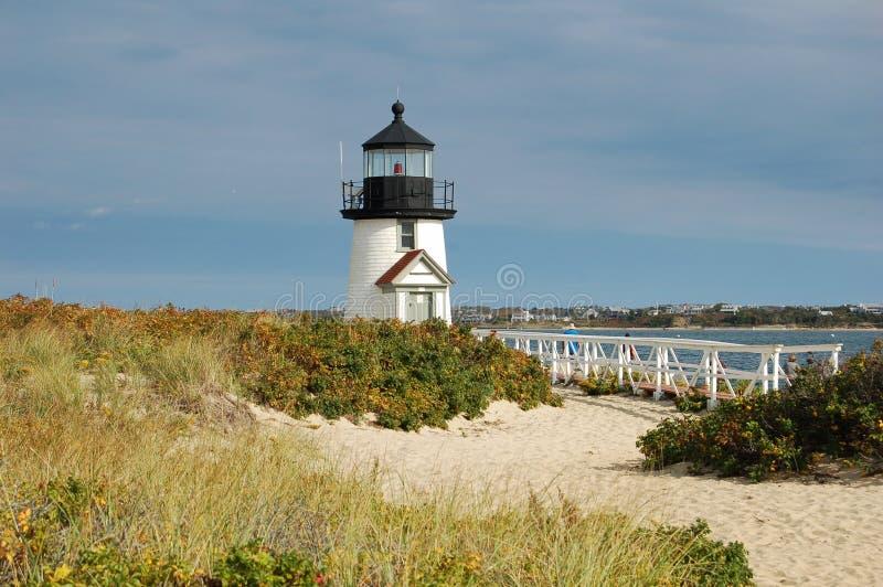 Leuchtturm nahe Nantucket, Mass. lizenzfreie stockfotografie