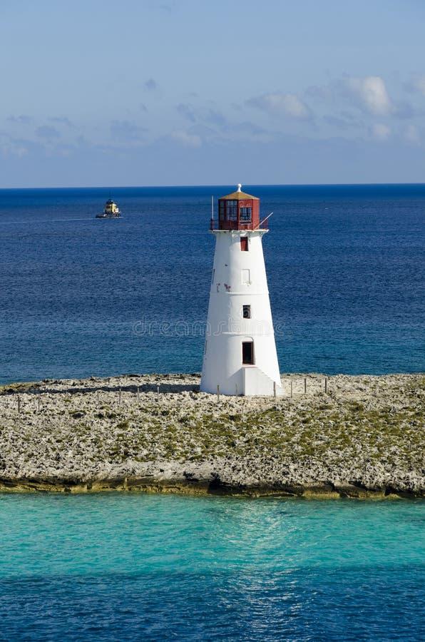 Leuchtturm in Nassau, Bahamas lizenzfreies stockfoto