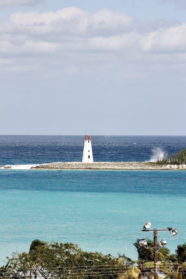 Leuchtturm in Nassau, Bahamas stockfotografie