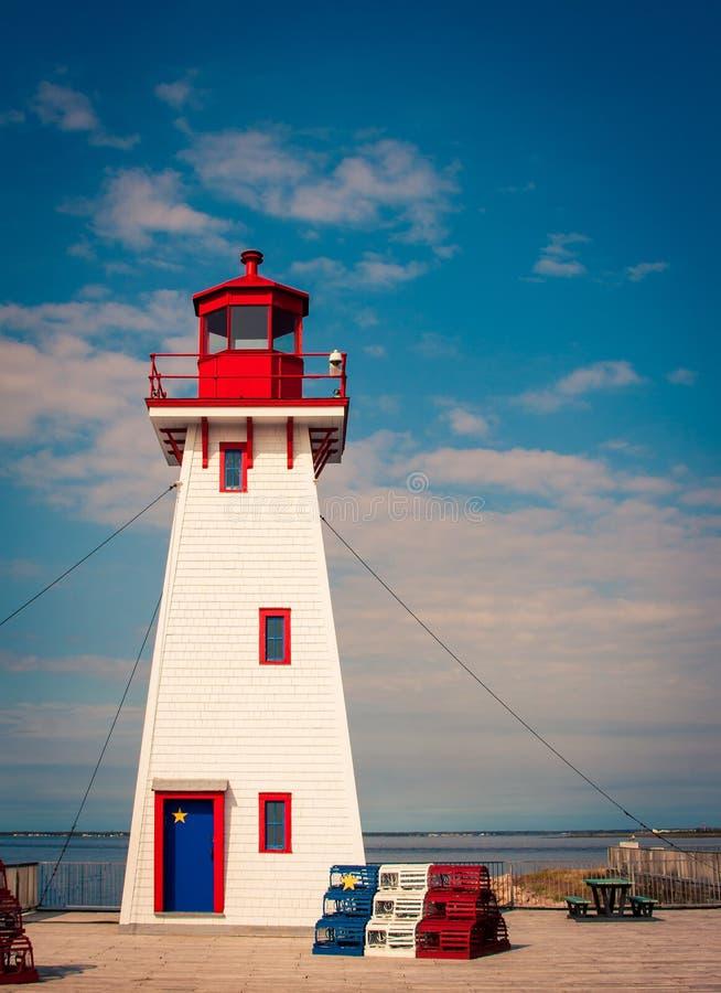 Leuchtturm in New-Brunswick stockbilder