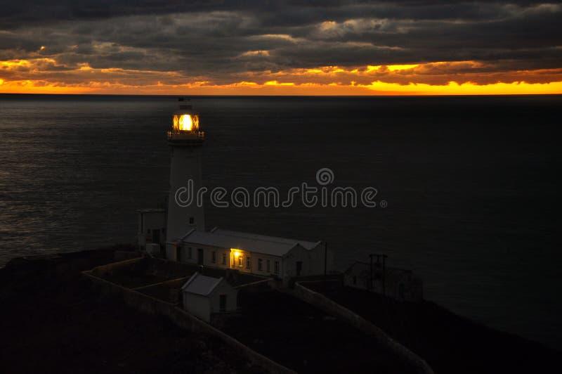Leuchtturm in Nord-Wales stockbild