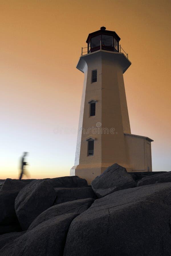 Leuchtturm an Peggy Bucht, Nova Scotia stockfotografie