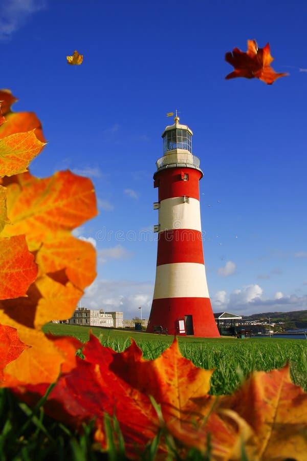 Leuchtturm in Plymouth stockfotos