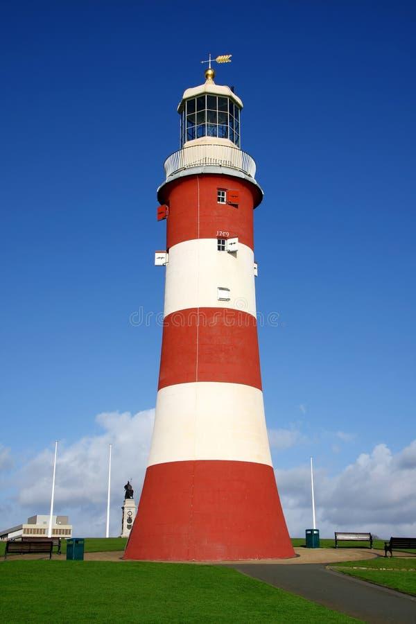 Leuchtturm in Plymouth, Devon, Großbritannien stockbilder