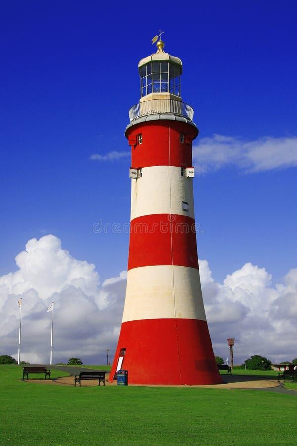 Leuchtturm, Plymouth, Großbritannien lizenzfreie stockbilder
