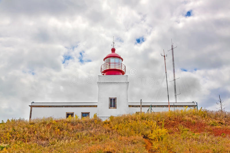 Leuchtturm Ponta tun Pargo stockfotografie