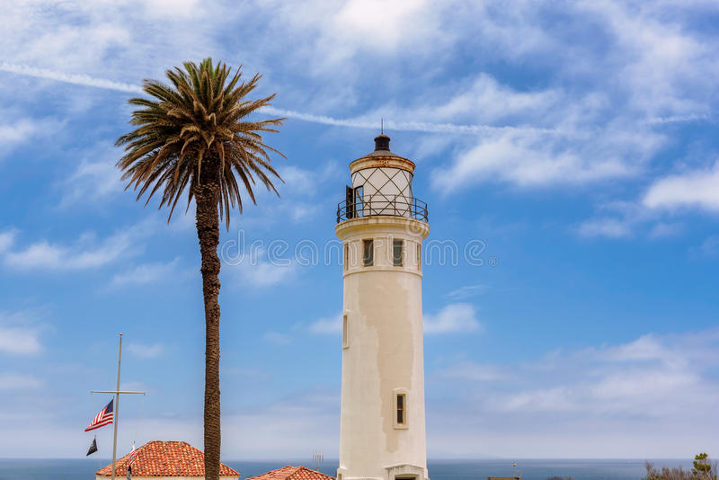 Leuchtturm-Punkt Vicente, Palos Verdes, Los Angeles lizenzfreie stockfotografie