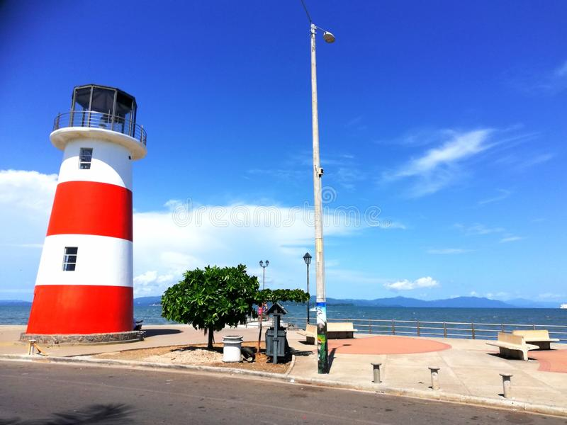 Leuchtturm Puntarenas Costa Rica tourismus stockfotos