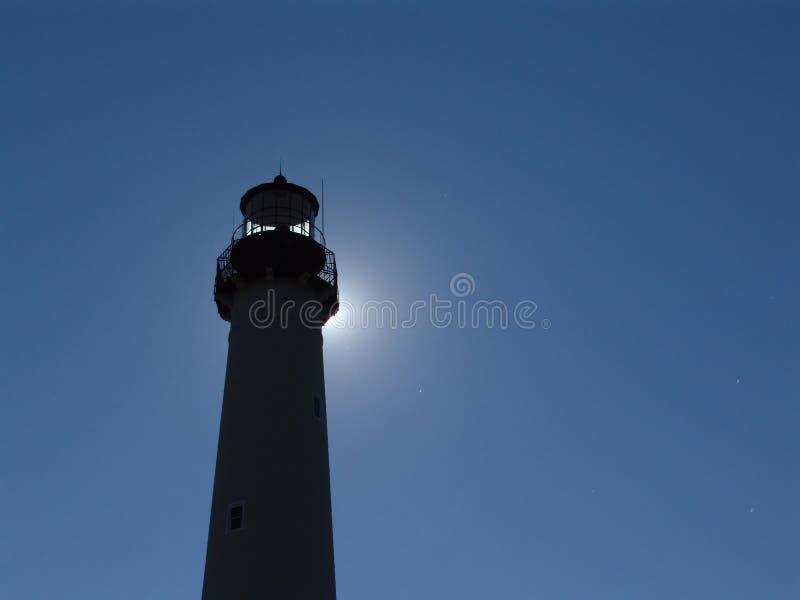 Leuchtturm-Schattenbild lizenzfreie stockfotografie