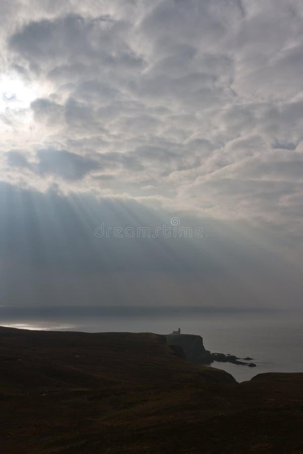 Leuchtturm Schottland stockfotografie