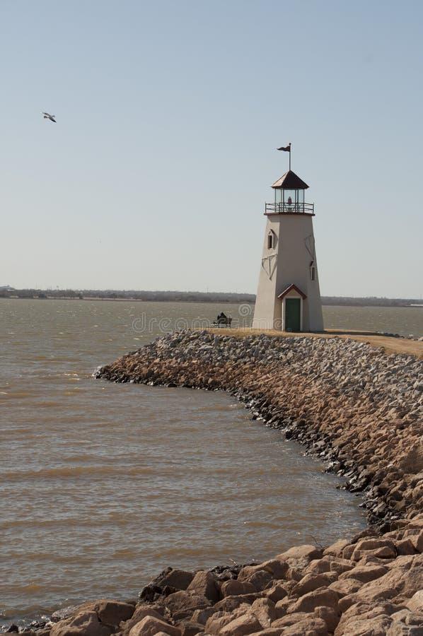 Leuchtturm am See Hefner lizenzfreie stockfotografie