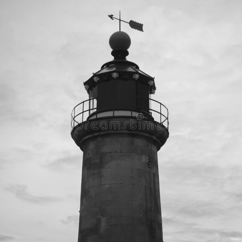 Leuchtturm an Shoreham-Hafen, East Sussex, Großbritannien stockbild
